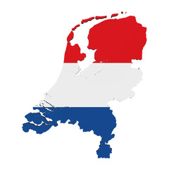 Map of Netherlands Isolated