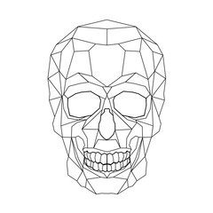 Skull stylized triangle polygonal model