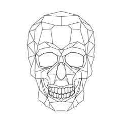 Skull stylized triangle polygonal model