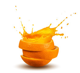 Foto op Canvas Sap splashing orange juice