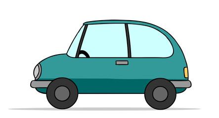 Kleines Auto seitlich als Cartoon