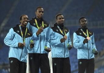 Athletics - Men's 4 x 400m Relay Victory Ceremony