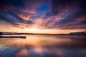 Sunset at the beach in Tasmania, Australia