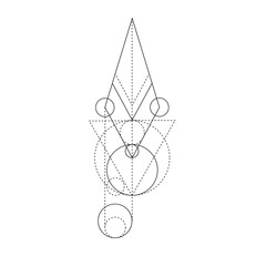 Abstract mystic sign with geometric shapes