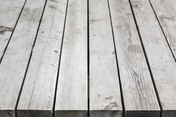 Gray wooden desk. Background photo