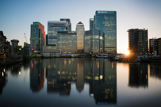 Canary Wharf at Sunset