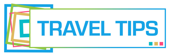 Travel Tips Colorful Squares Bar