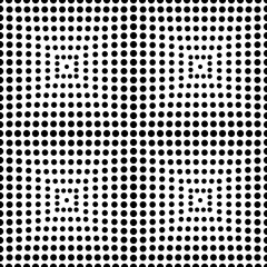 Square of circle seamless pattern