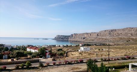 Lindos and the Acropolis Rhodes island Greece Beach