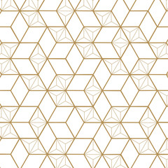 Japanese Gold background and pattern. vector
