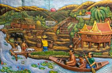 "Mosaic ""The Village on the River"""