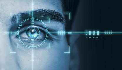 biometric hi tech security retina scan