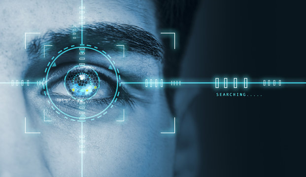 biometric hi tech security retina scan