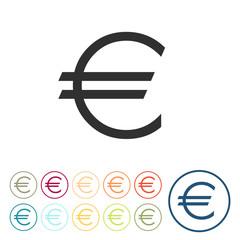 Runde Schaltflächen - Euro - Währung