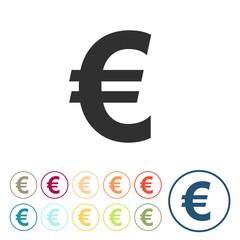 Runde Schaltflächen - Euro  - Geld