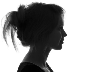 silhouette fashion portrait of a woman