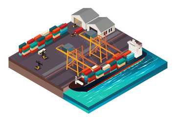 Isometric Design of a Shipping Port