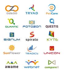 Ensemble de Quinze Logos et Icones - Conception Charte Graphique