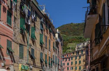Hausfassaden Vernazza Cinque Terre Ligurien Italien