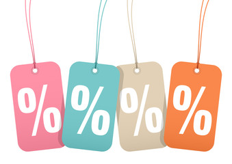 "Hangtags ""Sale"" Percent Retro"