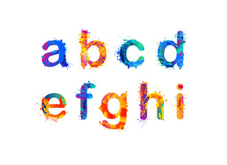 Alphabet. Letters a, b, c, d, e, f, g, h, i. Part 1 of 3