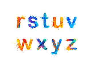 Alphabet. Letters r, s, t, u, v, w, x, y, z. Part 3 of 3