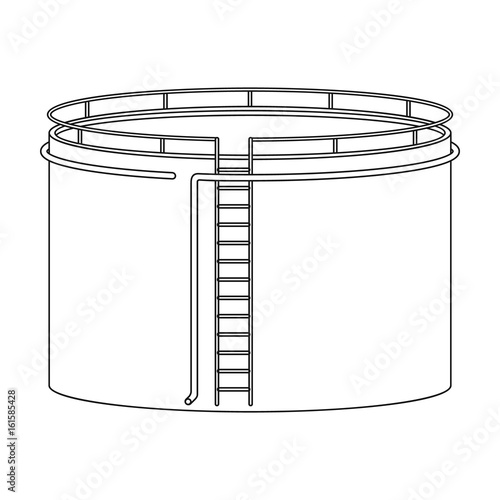 Oil Storage Tankoil Single Icon In Outline Style Vector Symbol