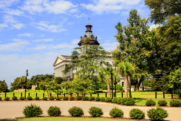 The South Carolia State Capitol building in Columbia. Built in 1855 in the Greek Revival style.