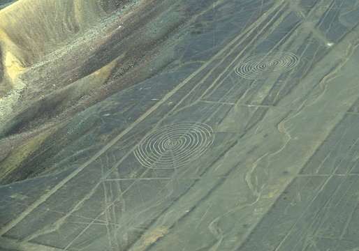 The Nazca Lines in Peru, here you can see Spirals