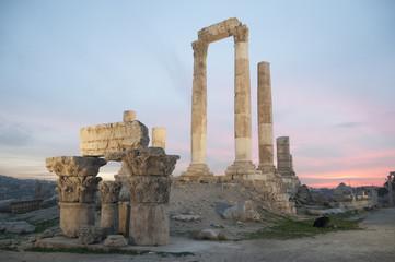Temple of Hercules in the citadel of Amman
