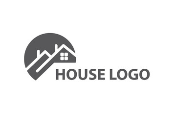 monochrome design of house logo