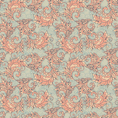 Seamless Damask wallpaper. colorful vector background