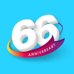 Anniversary emblems 66 anniversary template design
