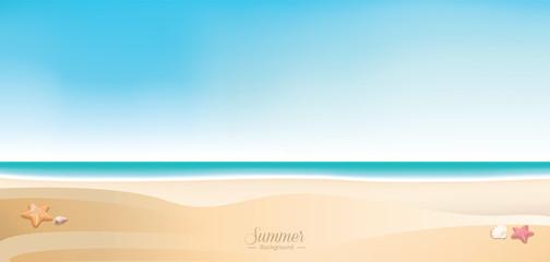 Summer beach background - horizontal web banner