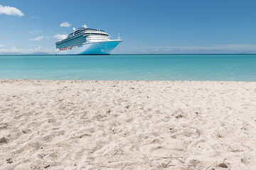 Summer tropical cruise vacation concept.