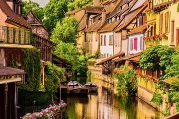 Panorama of colmar city in france