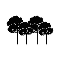 nature trees cartoon icon vector graphic illustration