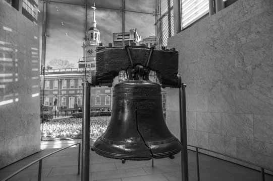 Philadelphia Liberty Bell in Black & White