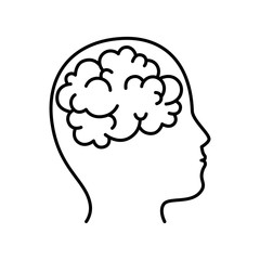 isolated brain icon vector illustration graphic design