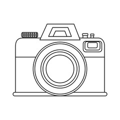 isolated vintage camera icon vector graphic illustration