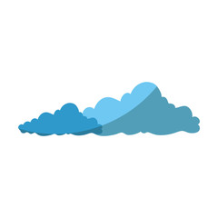isolated cute clouds icon vector graphic illustration