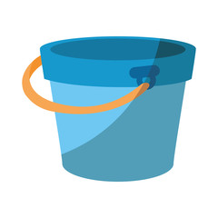 isolated bucket of sand icon vector graphic illustration