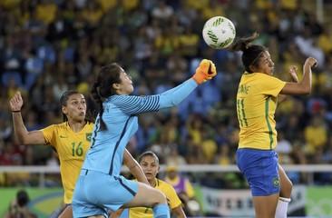 Football - Women's First Round - Group E Brazil vs China