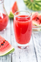 Watermelon Smoothie (selective focus)