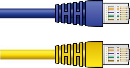 Ethernet RJ-45 Cables, vectors