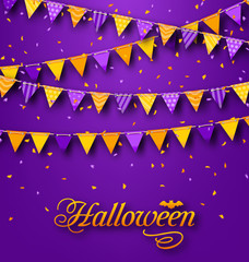 Halloween Party Background with Hanging Triangular String