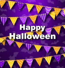 Colorful Hanging for Triangular String Halloween Party