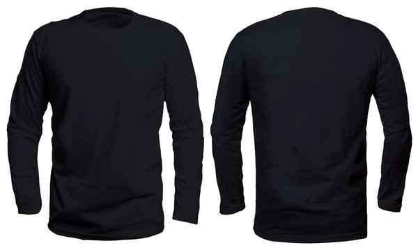 Black Long Sleeve Shirt Mock up