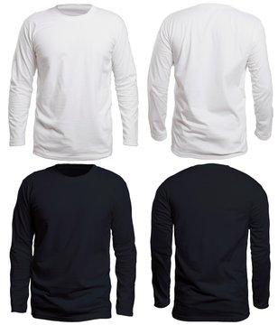 Black and White Long Sleeve Shirt Mock up