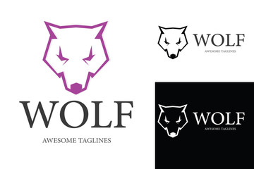 Wolf Logo Illustration Design